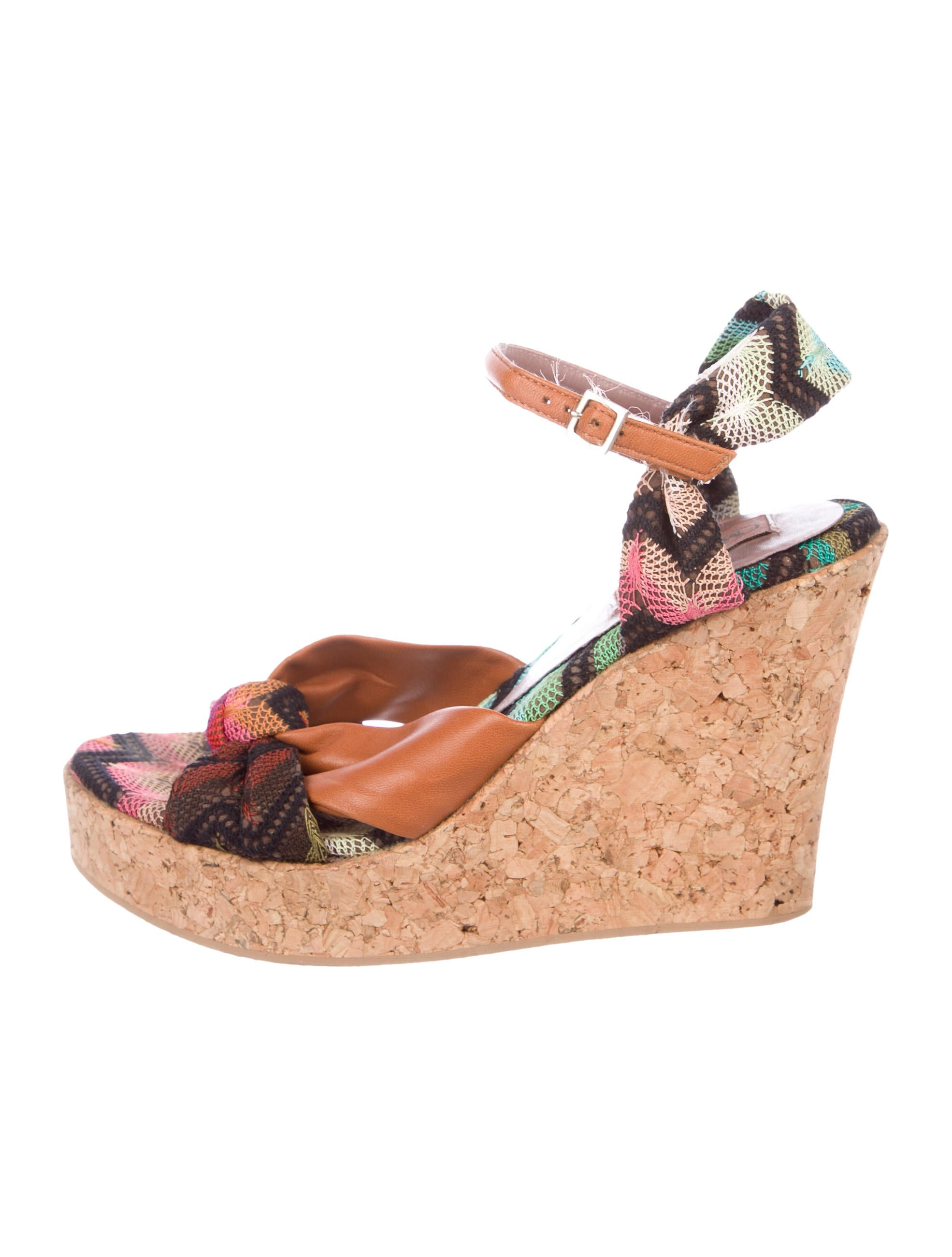 Missoni Woven Wedge Sandals classic cheap online STN9Q