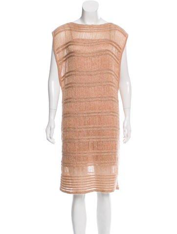 Missoni Open Knit Metallic Dress None