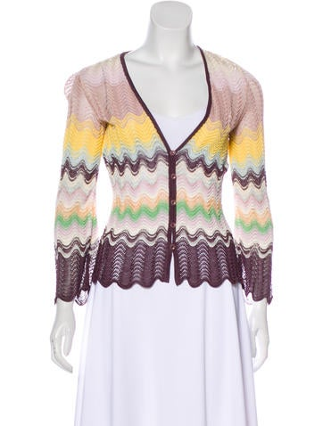 Missoni Knit Button-Up Cardigan None