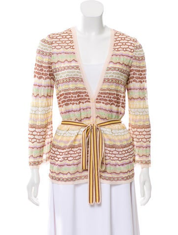 Missoni Knit Cardigan Sweater None