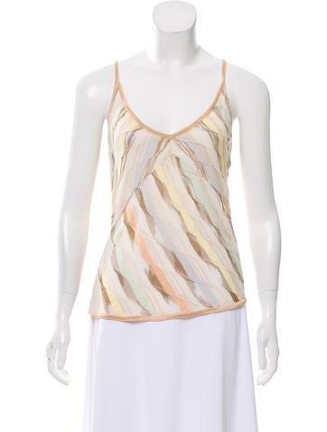 Missoni Striped Sleeveless Top None