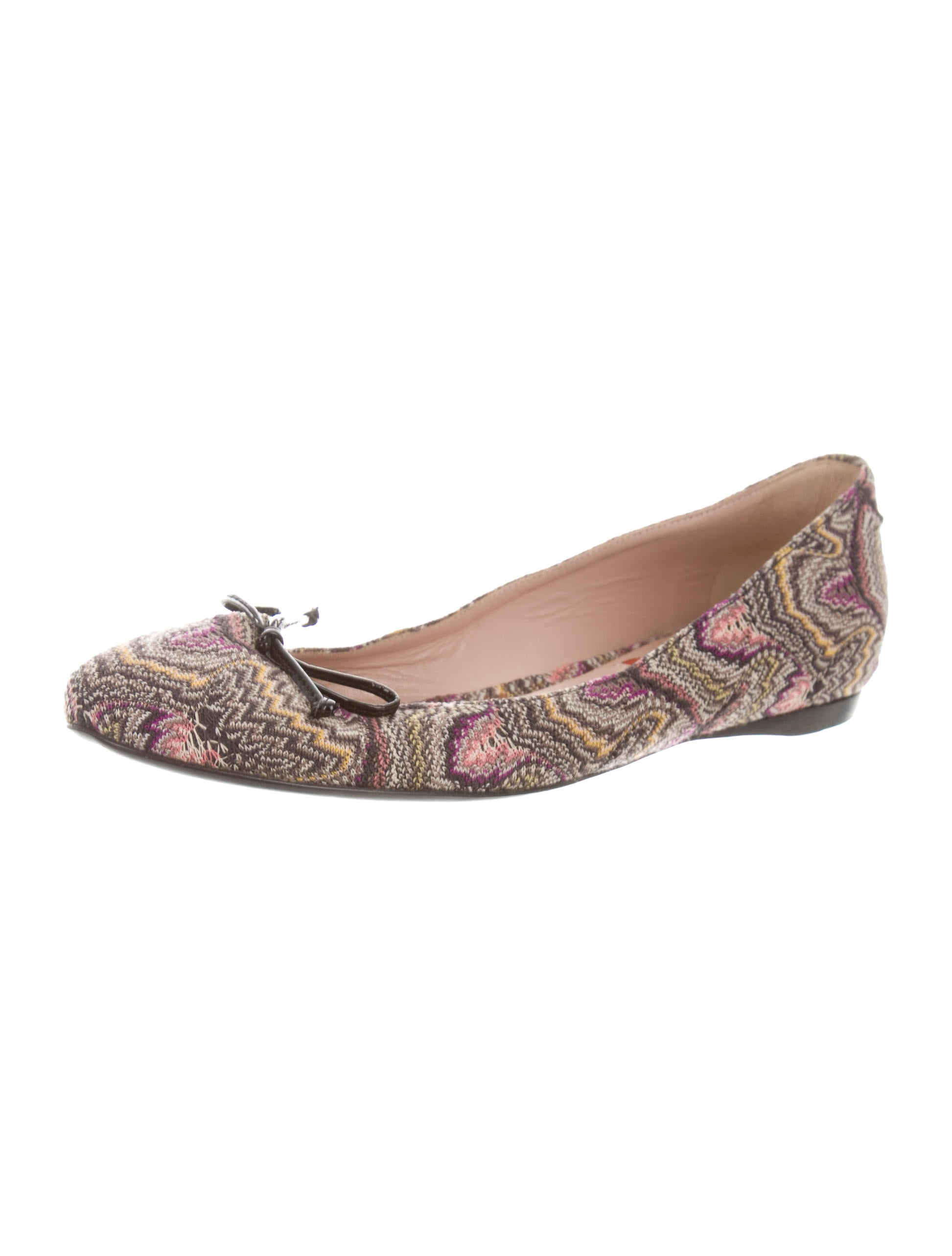 Missoni Woven Chevron Flats free shipping hot sale outlet supply comfortable online supply cheap price 1zqQSpT