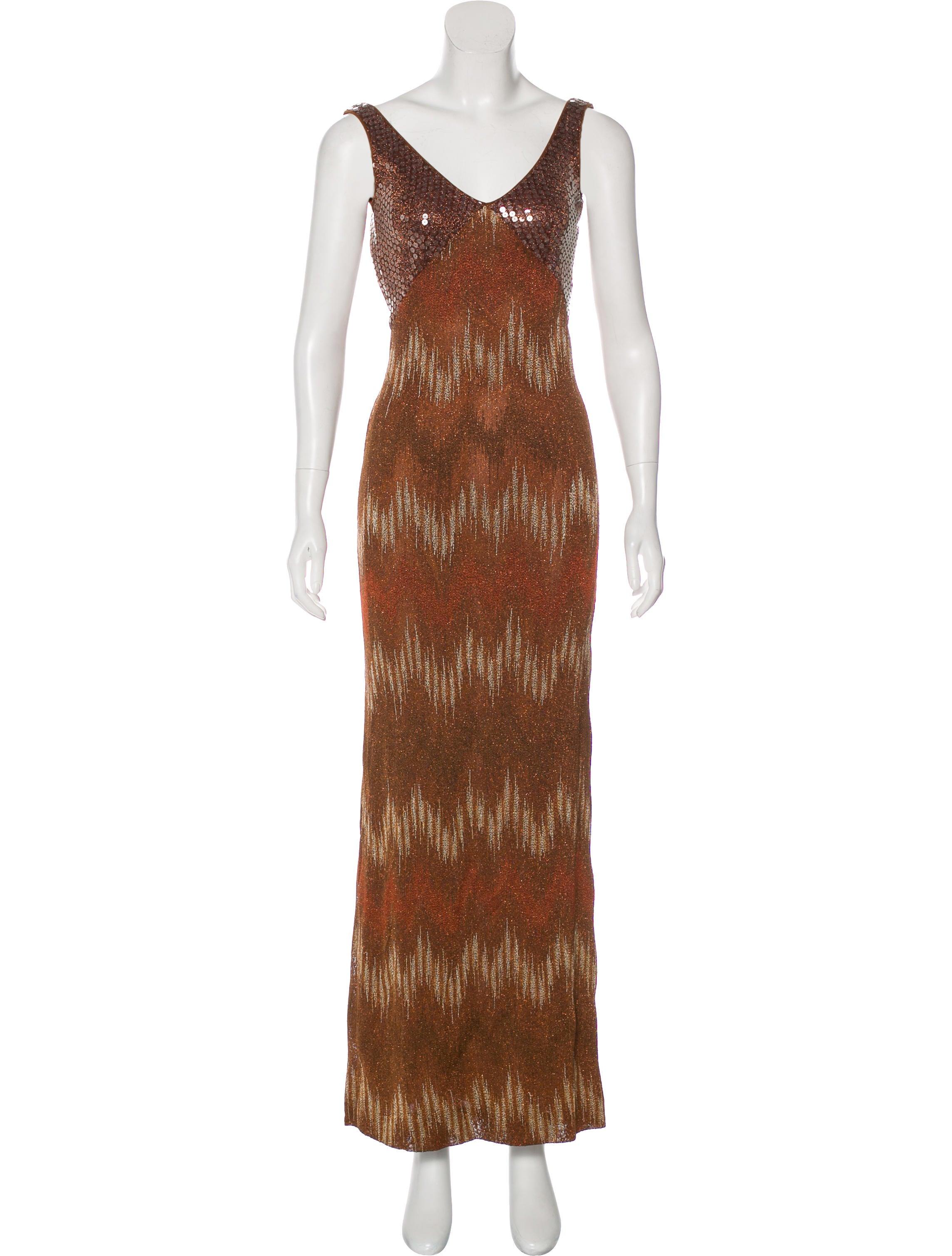 Missoni Metallic Evening Dress - Clothing - MIS51515 | The RealReal