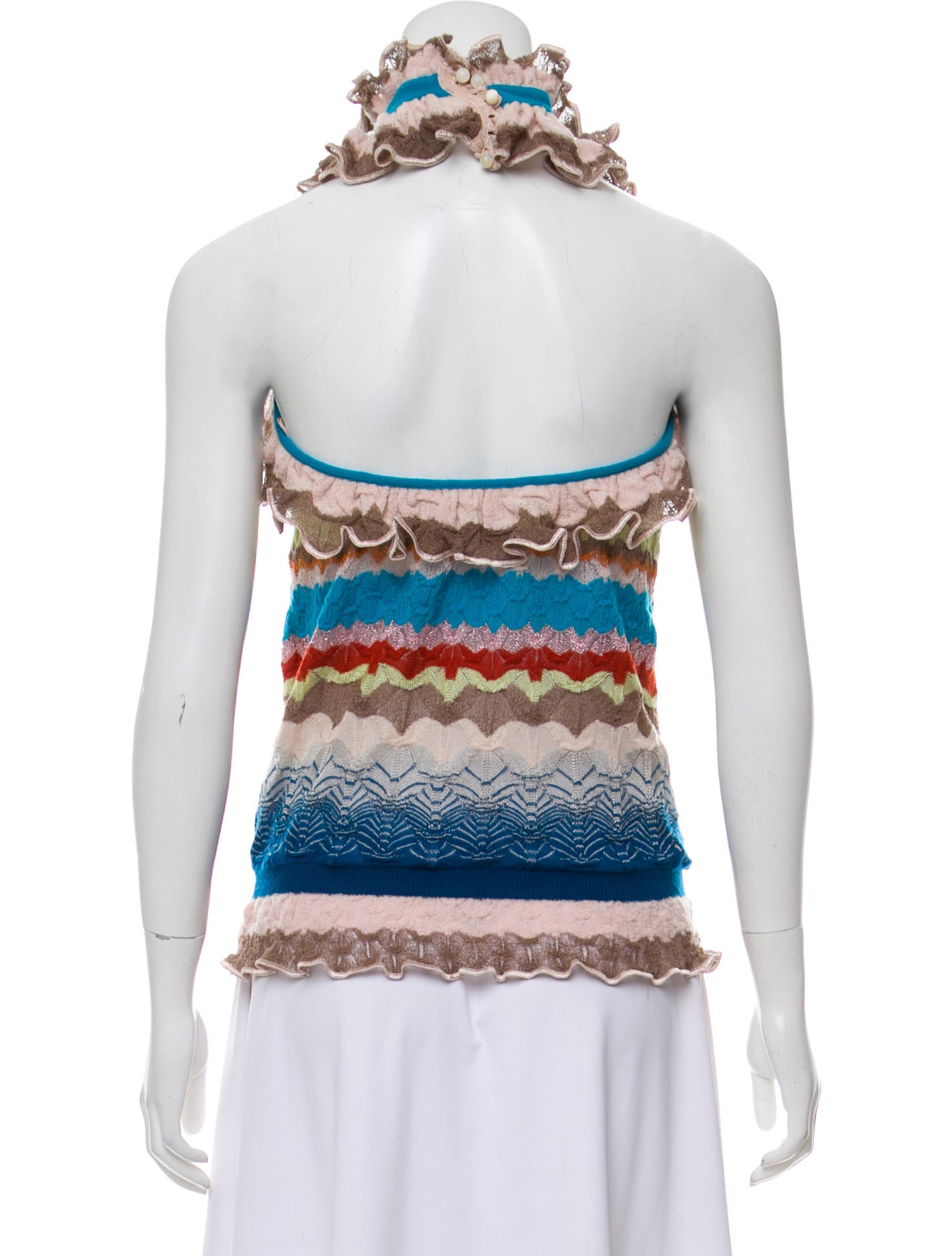 Missoni Patterned Halter Knit Top - Clothing - MIS54210 | The RealReal