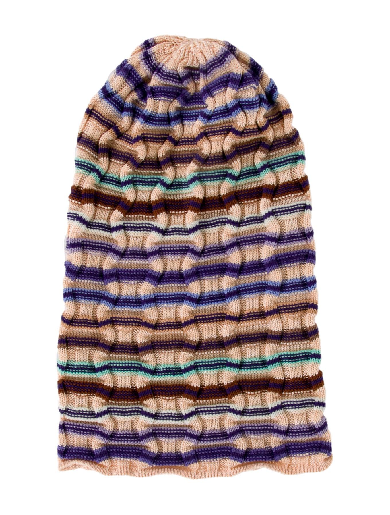 316a4dfddcc Missoni Rib Knit Patterned Beanie - Accessories - MIS57493