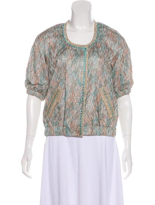 31d0b81c8f Missoni Metallic Short Sleeve Jacket - Clothing - MIS61509