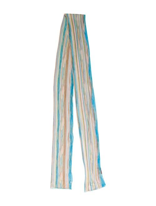Missoni Striped Knit Scarf multicolor