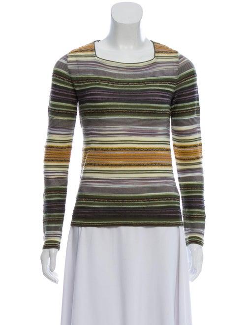 Missoni Striped Square Neck Sweater Green