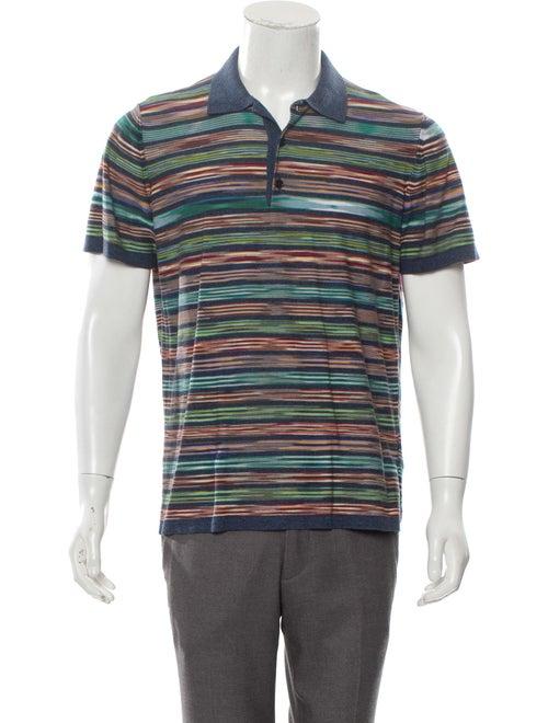 Missoni Knit Short Sleeve Polo blue