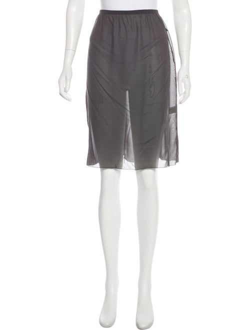 Missoni Silk Slip Skirt Grey