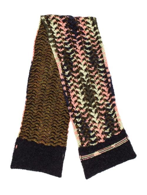 Missoni Knit Wool-Mohair Scarf Black