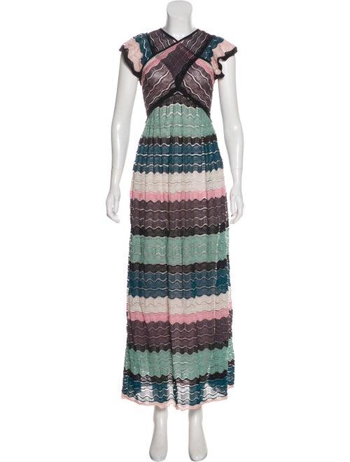 Missoni Knit Maxi Dress Teal