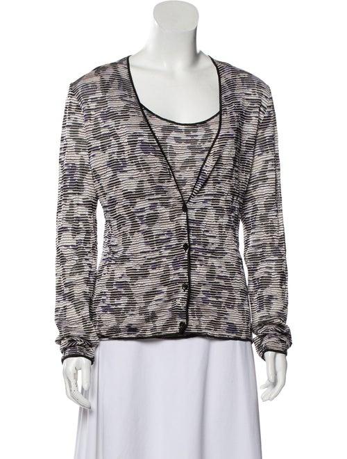 Missoni Textured Knit Cardigan Set Black