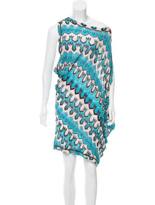 Missoni Printed Knit Dress blue