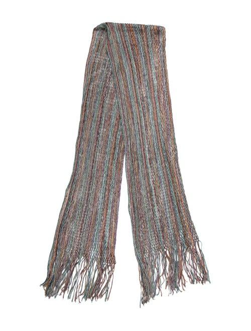 Missoni Knit Fringe Scarf Pink
