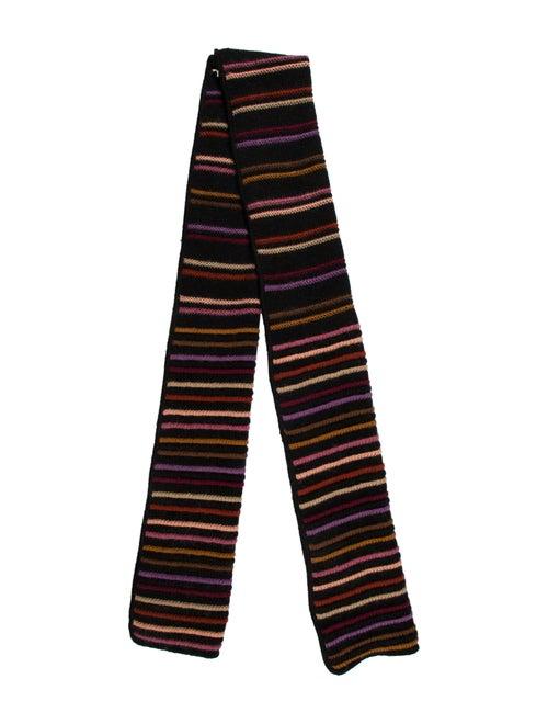 Missoni Patterned Knit Scarf Black