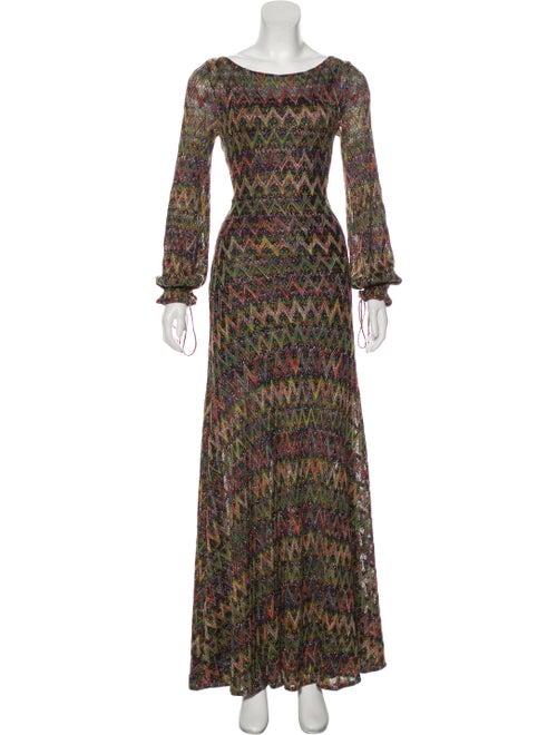 Missoni Metallic Knit Dress Multicolor