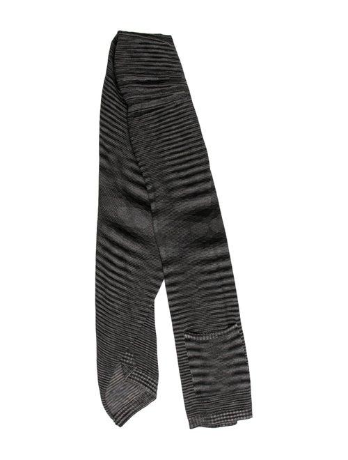 Missoni Patterned Knit Scarf Grey