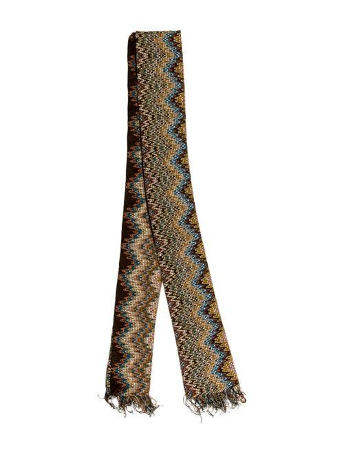Missoni Chevron Knit Scarf Brown