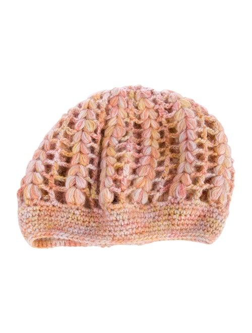Missoni Wool Crochet Beret Pink