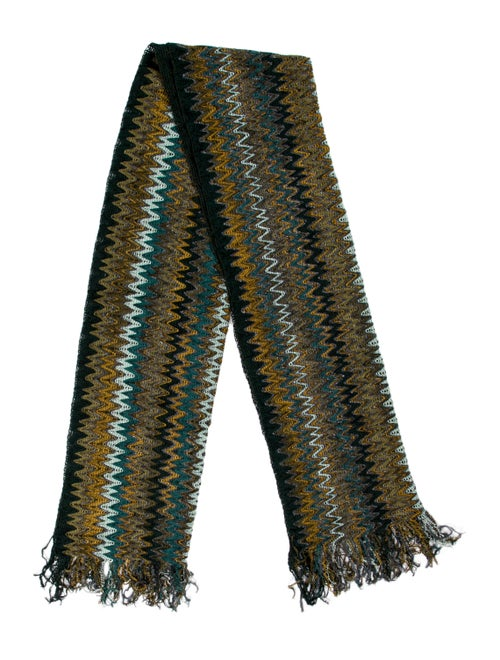 Missoni Patterned Knit Scarf multicolor