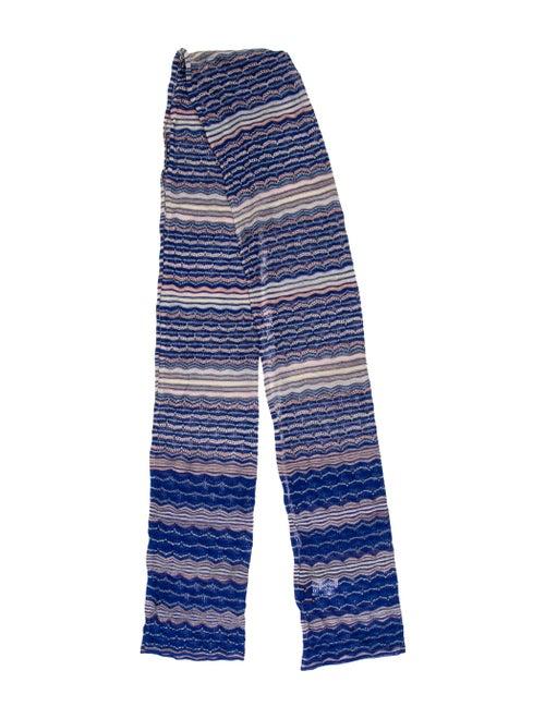 Missoni Patterned Knit Scarf Navy