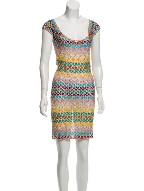 Missoni Sleeveless Knit Dress Green