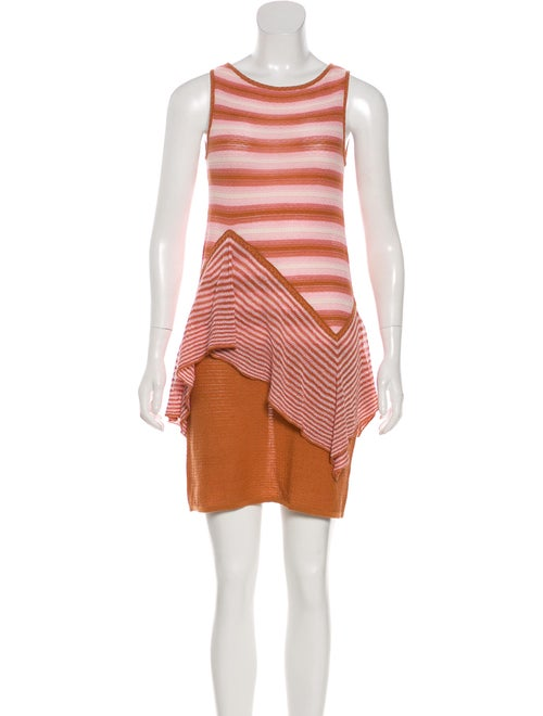 Missoni Knit Mini Dress Brown
