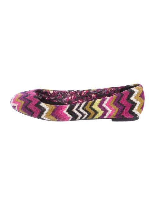 Missoni Chevron Knit Flats Violet