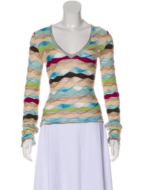 Missoni Striped Knit Top multicolor