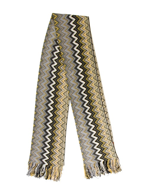 Missoni Chevron Knit Scarf Black