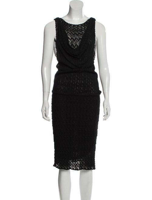 Missoni Rib Knit Midi Dress Black