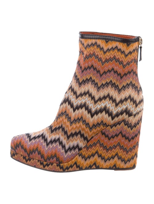 Missoni Knit Wedge Booties multicolor