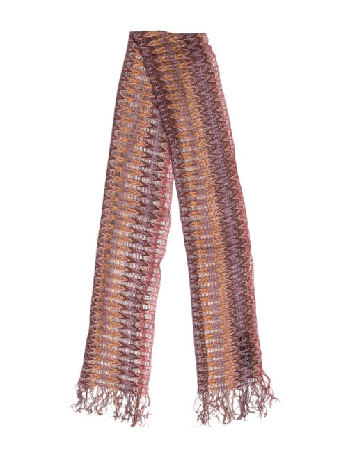 Missoni Chevron Knit Scarf Pink