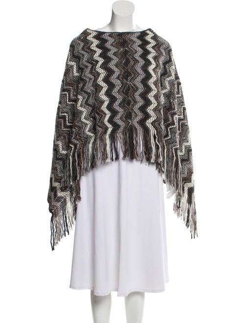 Missoni Lightweight Knit Poncho Grey