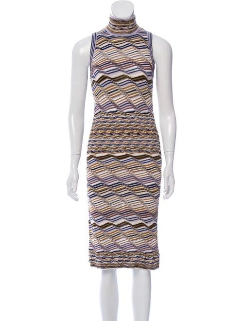 Missoni Knit Sleeveless Dress tan