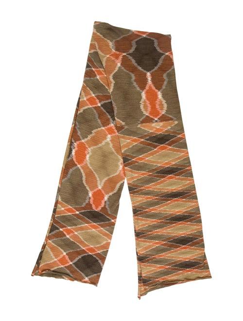 Missoni Patterned Knit Scarf beige