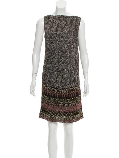 Missoni Metallic Knit Dress Black