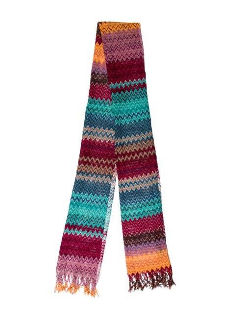 Missoni Wool & Silk Scarf Purple
