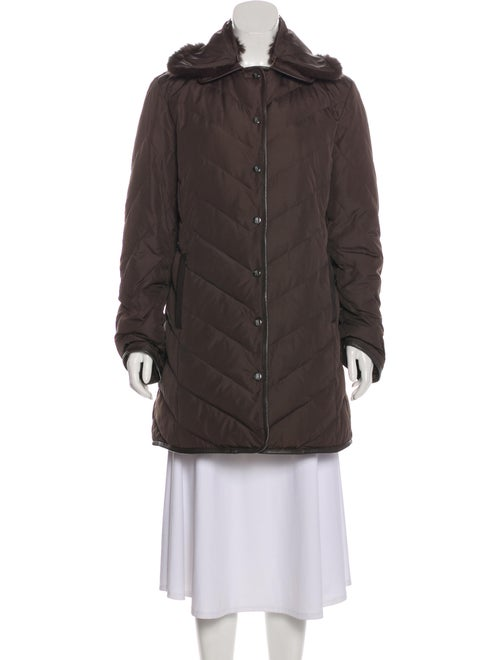 Missoni Short Quilted Coat Brown