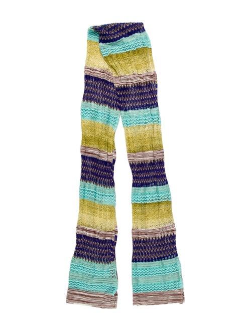 Missoni Chevron Knit Scarf Green