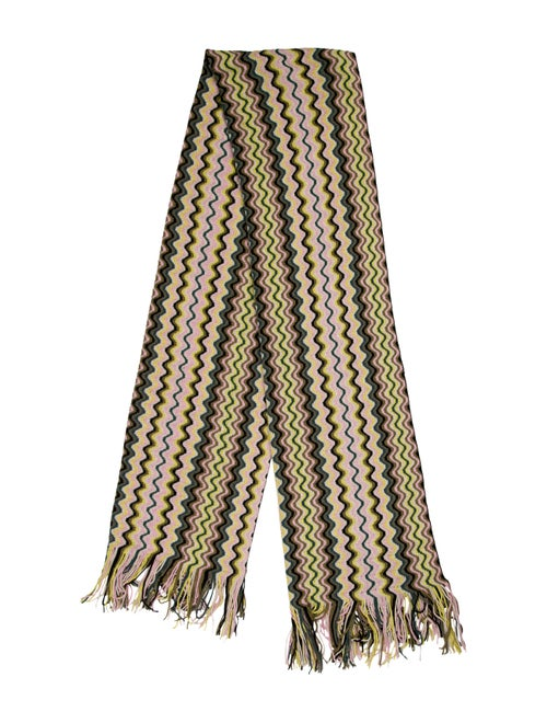 Missoni Wool Chevron Scarf Yellow