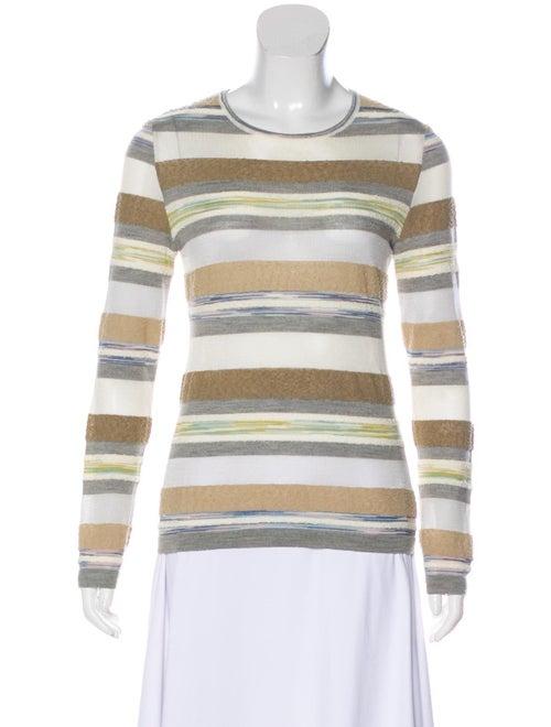 Missoni Striped Knit Top Grey