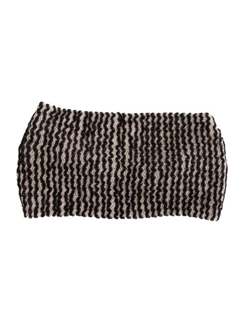 Missoni Woven Knit Headband Black