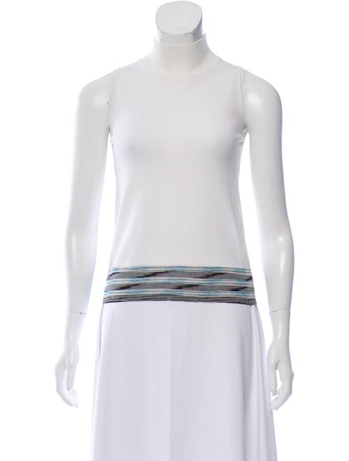 Missoni Mock Neck Sweater White
