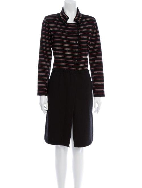 Missoni Striped Coat Black