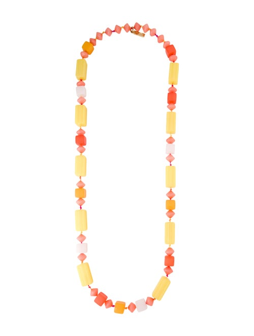 Missoni Resin Bead Necklace gold