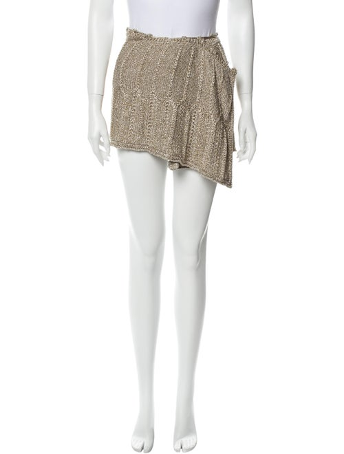 Missoni Mini Skirt Gold