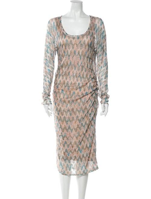 Missoni Knit Midi Dress Beige
