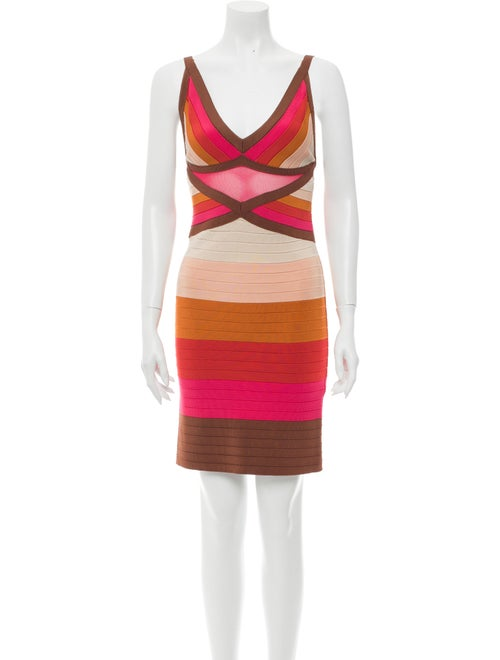 Missoni Striped Mini Dress Brown